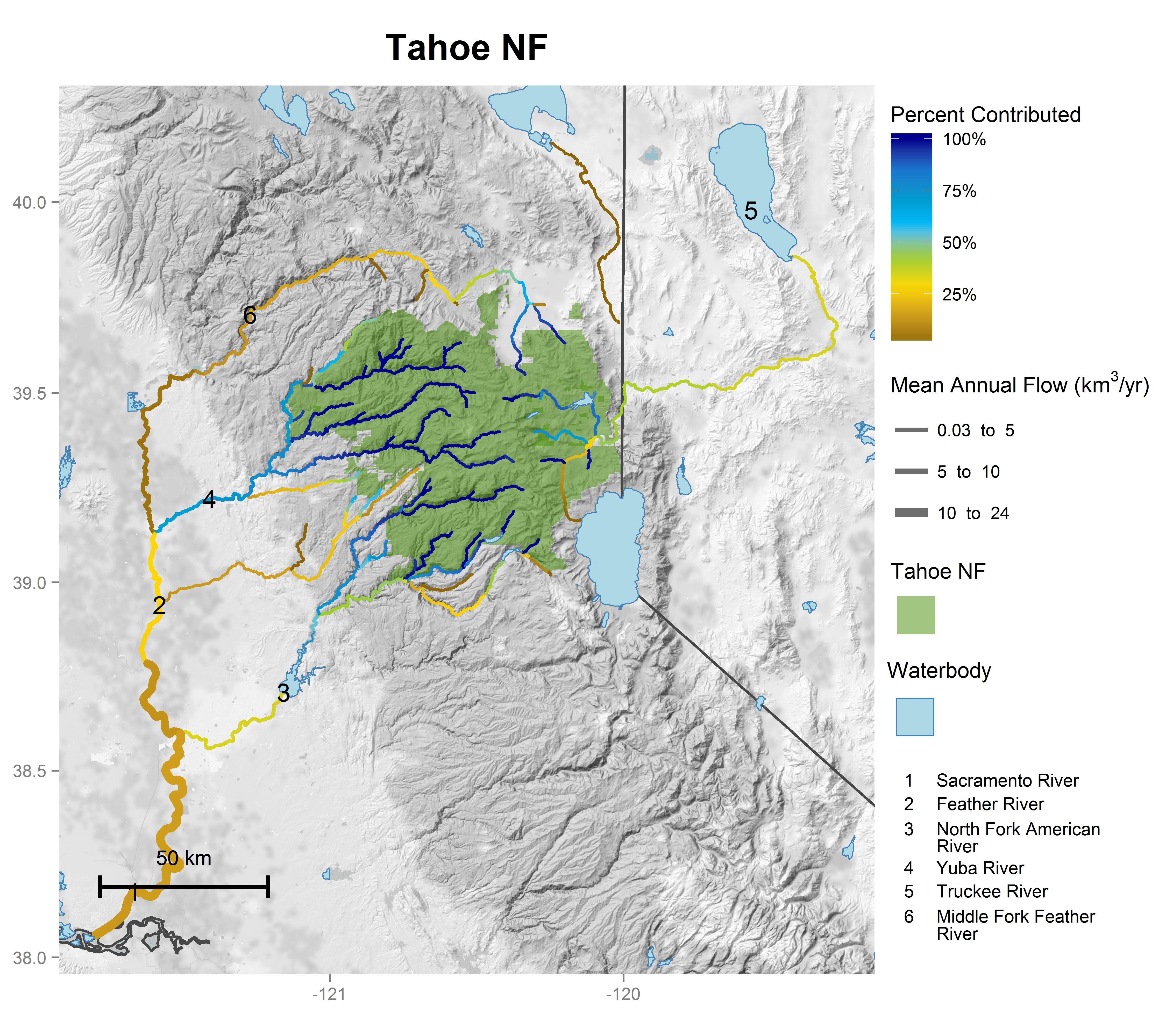 National forest contributions to streamflow: Pacific Southwest ...