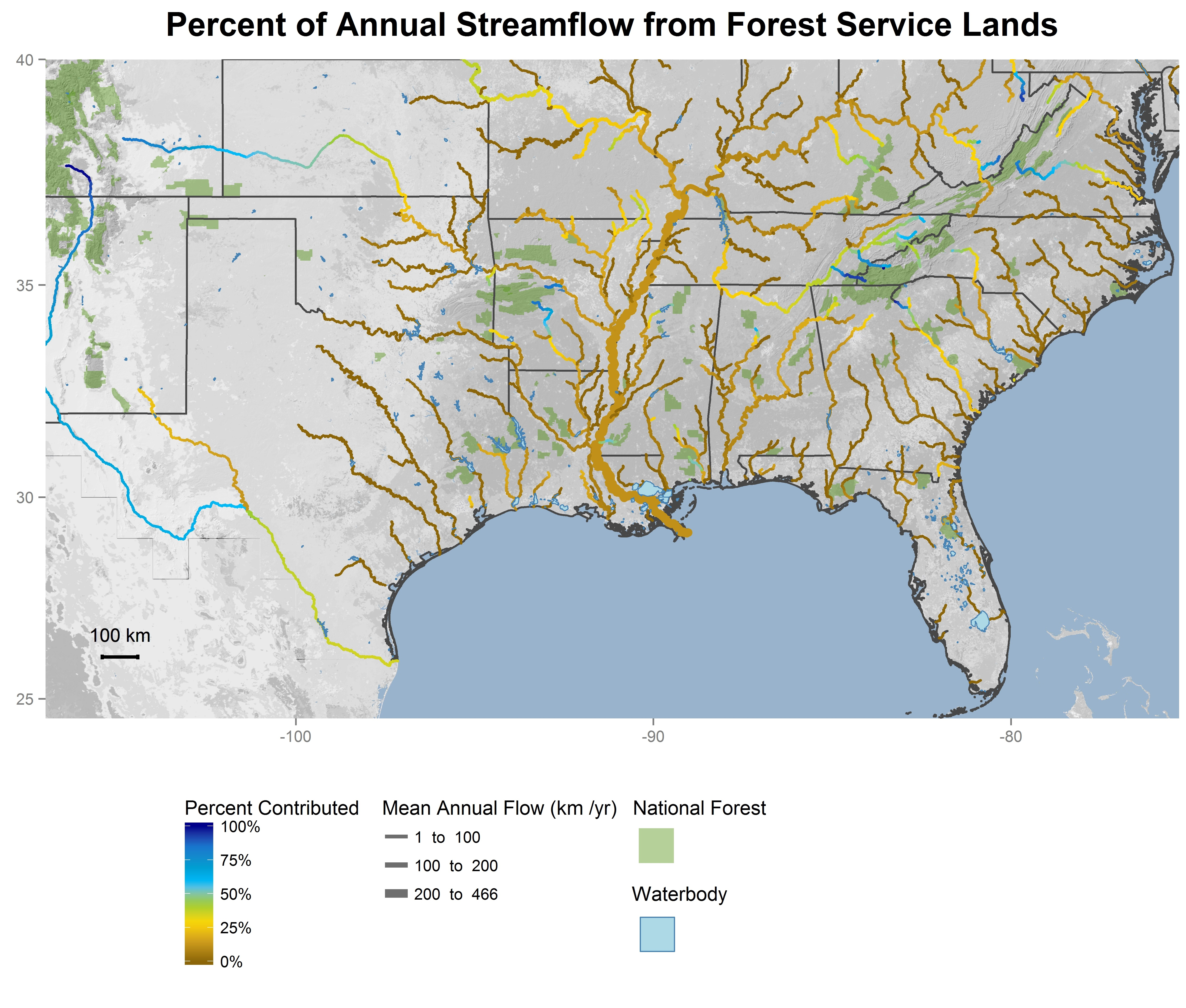 National forest contributions to streamflow: Southern Region (Region ...
